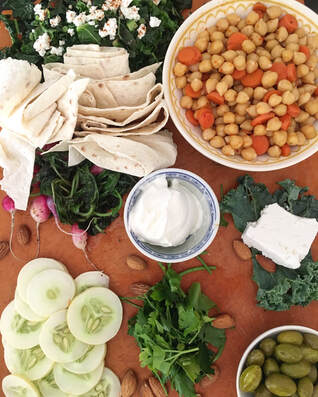 photo by Ranelle: mezze platter
